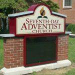 seventh day adventist church sign