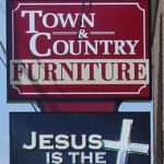 town and country furniture internally lighted led sign