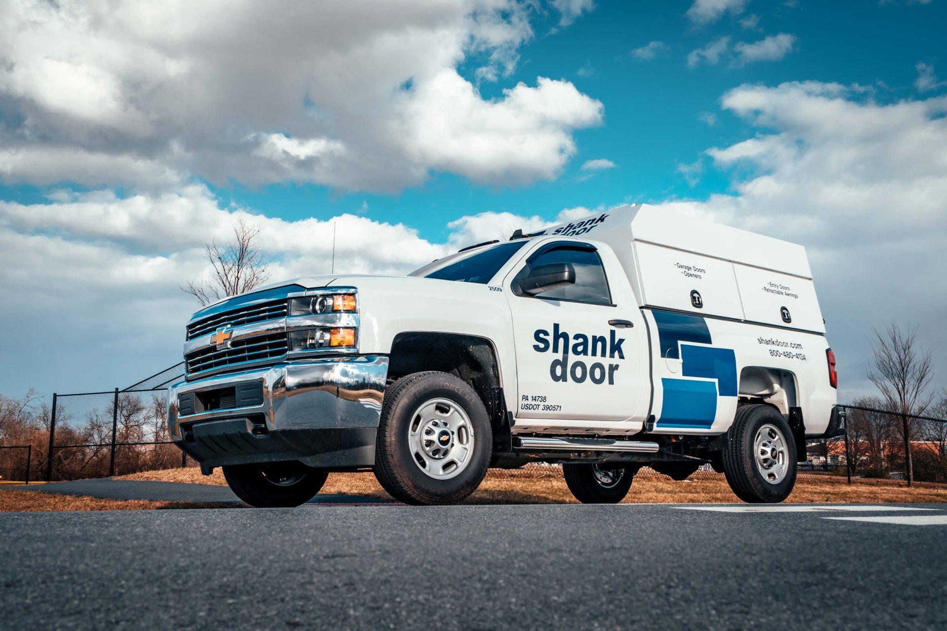 Shank Door Chevy Pickup Lettering-1 & Custom Vinyl Lettering Truck Lettering | Horst Signs PA ...