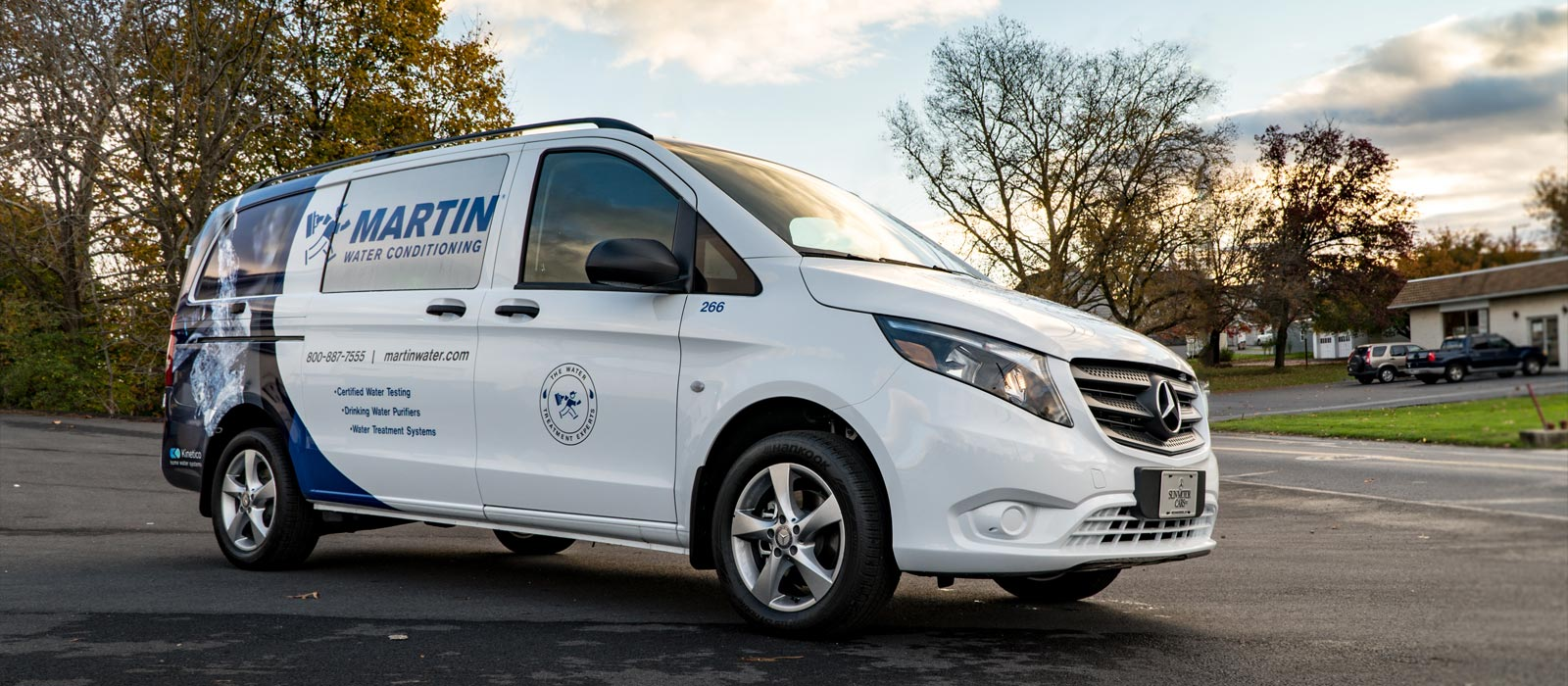 Horst Signs in PA Vehicle Wrap for Martin Water Conditioning Mercedes Van in Myerstown PA